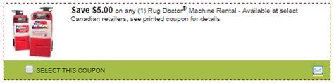rug doctor rental coupons 10 new smartsource canada printable save 5 00