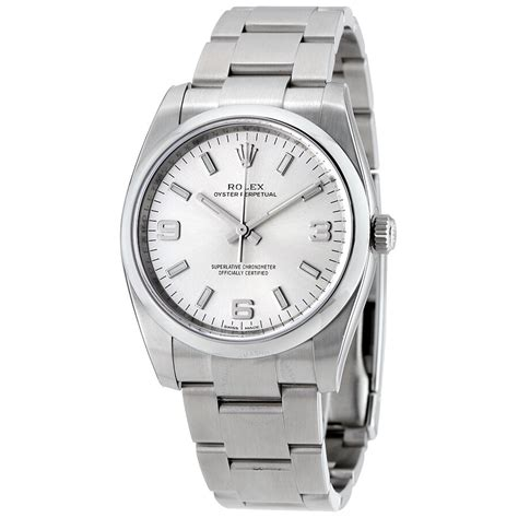 Rolex Oyster Perpetual 34 Silver Dial Stainless Steel ...