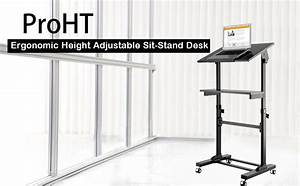 Amazon Com   Proht Mobile Height Adjustable Sit