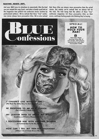 Comics Romance Humorous Mad Annual Confessions Side