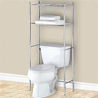 over toilet shelf Over the Toilet Bathroom Shelf - Chrome in Bathroom Shelves