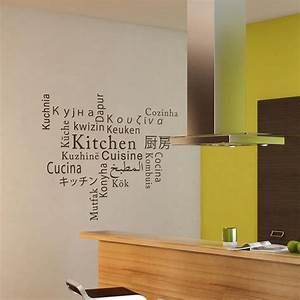 Stickers Muraux Cuisine : sticker cuisine multi langue stickers muraux pour la ~ Premium-room.com Idées de Décoration