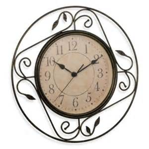 geneva wrought iron wall clock from bed bath beyond