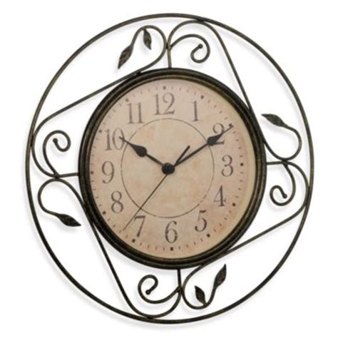 bed bath and beyond decorative wall clocks geneva wrought iron wall clock from bed bath beyond