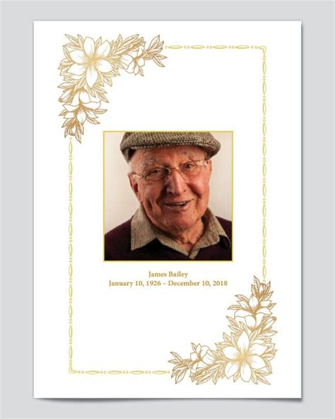 editable funeral program templates  editable