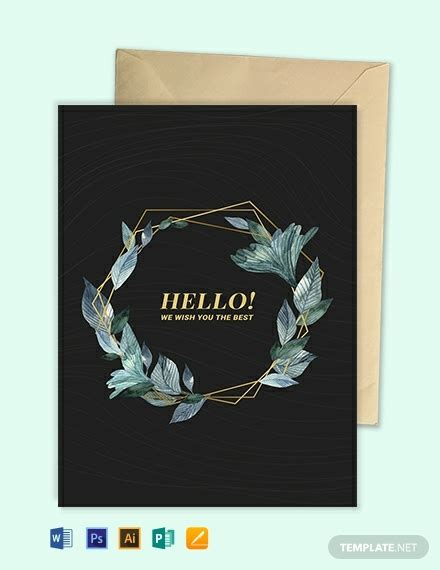 word greeting card templates  ready