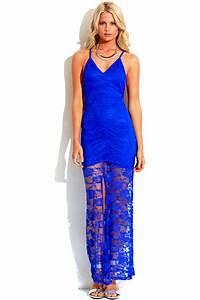 Deep v slit dress