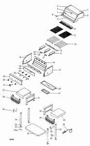 Grill Diagram  U0026 Parts List For Model 14115221 Kenmore