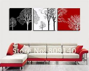 Free shipping decoration oil painting canvas abstract tree