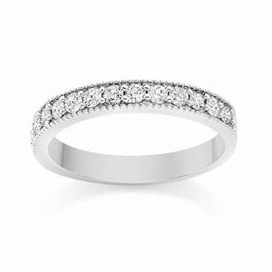 milgrain diamond wedding ring in platinum from diamond With platinum diamond wedding rings