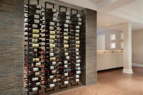 Wall-wine-rack-dining-room-transitional-with-decorative