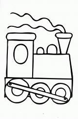 Coloring Caboose Train Popular sketch template
