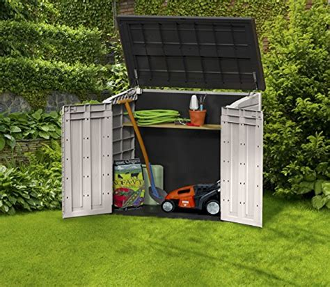 keter store it out midi resin outdoor garden storage shed