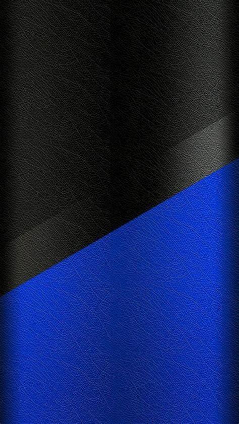 Dark S7 Edge Wallpaper 02  Black And Blue Leather Pattern