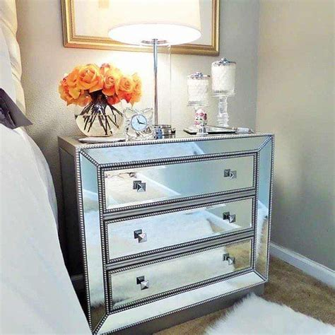 Mirrored Nightstand by Adding Glamor To Your Space Mirrored Nightstand Home