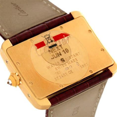 Cartier Divan by Cartier Tank Divan Large 18k Yellow Gold
