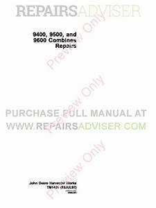 John Deere 9400 9500 9600 Combines Repairs Technical