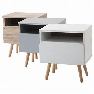 Casa Table De Chevet : table de chevet giorgia m lamin avec 1 niche et 1 tiroir mobil meubles ~ Teatrodelosmanantiales.com Idées de Décoration