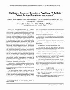 Pdf  Big Book Of Emergency Department Psychiatry   U201ca Guide To Patient Centered Operational