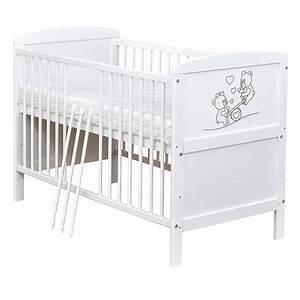 Babybett Weiß 70x140 : babybett kinderbett teddyb r wei 70x140 umbaubar zum ~ Indierocktalk.com Haus und Dekorationen