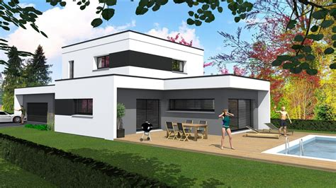maison contemporaine en bois toit plat cabinet de maitrise d oeuvre c 178 maison contemporaine en toit plat sur soultz haut rhin 68 by