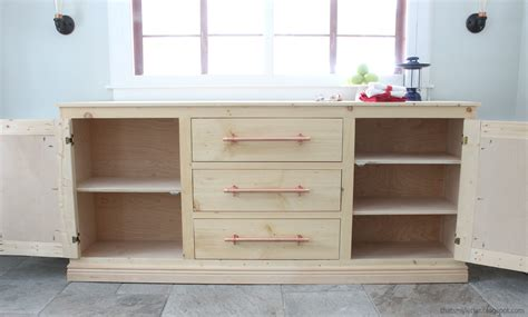 how to make a buffet cabinet ana white extra long buffet cabinet diy projects