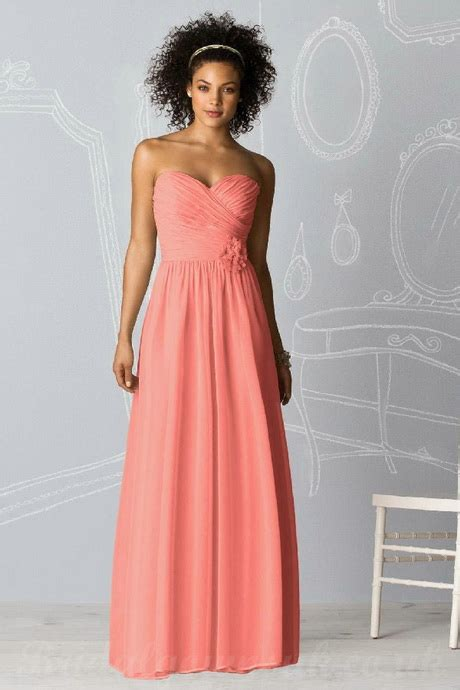 coral colored dresses coral colored bridesmaid dresses