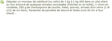 cuisiner du cabillaud au four recette cabillaud au four facile et rapide