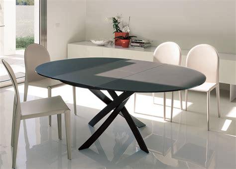 Bontempi Barone Extending Round Dining Table  Go Modern