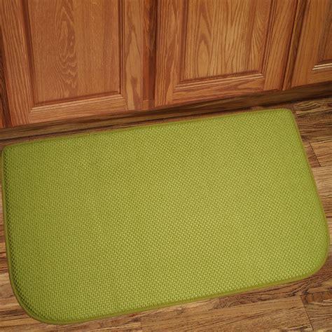 Memory Foam Anti Fatigue Kitchen Floor Mat Honey B Green