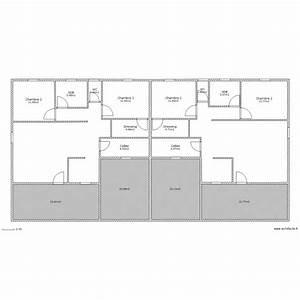 plan maison jumelee par le garage With ordinary plan gratuit de maison 6 modele jumele