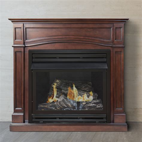 gas fireplace hearth pleasant hearth dual fuel vent free gas fireplace
