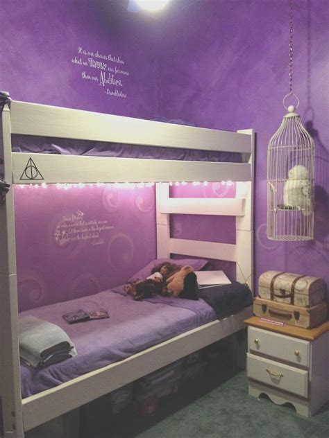 bedroom design  girls purple elegant silver bedroom