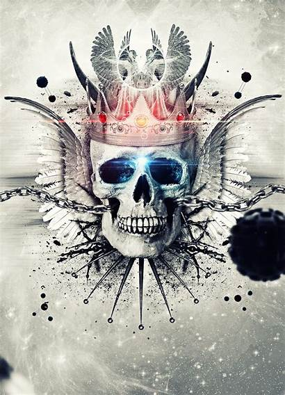 Skull King Wallpapers Deviantart Tattoo Skulls Evil