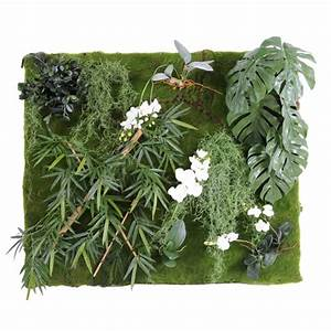 Mur De Fleur Artificielle : mur vegetal 130 110 v g tal artificiel fleurs plantes artificielles ~ Teatrodelosmanantiales.com Idées de Décoration