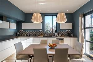 renovation cuisine contemporaine et douce dans maison With plan de maison design 9 renovation cuisine contemporaine et douce dans maison