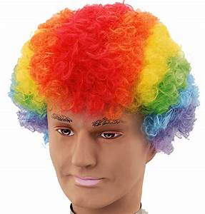Rainbow Afro Wig Clown Fancy Dress Unisex | eBay