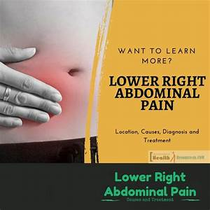 Lower Right Abdominal Pain : Location, Causes, Diagnosis ...