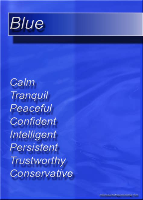 meaning of color blue color blue color psychology personality meaning