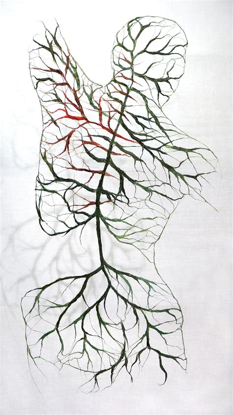 textile bodies reveal branched systems  veins flowers