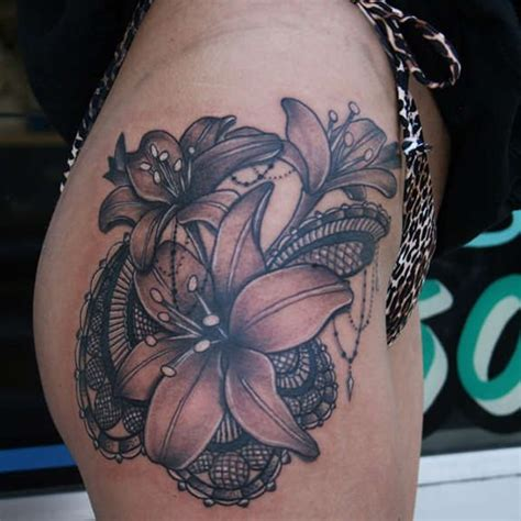 awesome lily tattoo     refuse