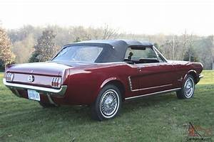 1965 Ford Mustang Convertible Red Classic Beauty.Ready to go Needs Nothing