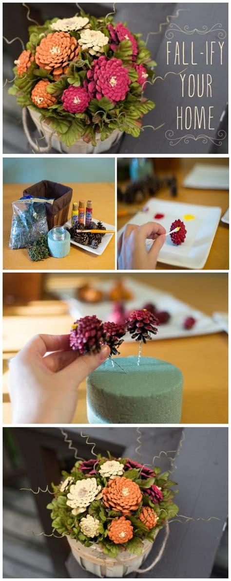 festive  fun pine cone crafts listing