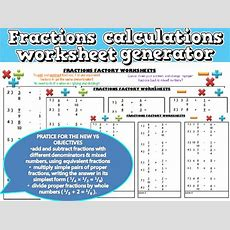 Year 3 Calculations Sats Paper Generator By Robanthony  Uk Teaching Resources Tes