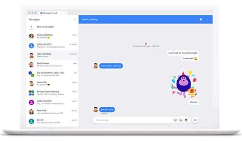 wie kann man android messages  web senden