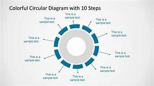 10 Step Colorful Circular Diagram For Powerpoint