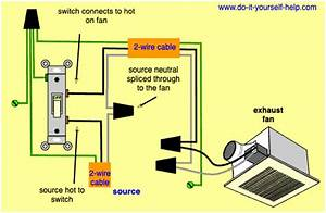 Wiring Bathroom Fan And Light On One Switch Diagram