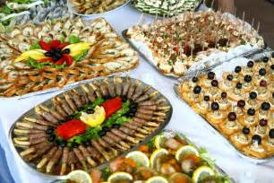 finger food table decorations photograph christmas party f