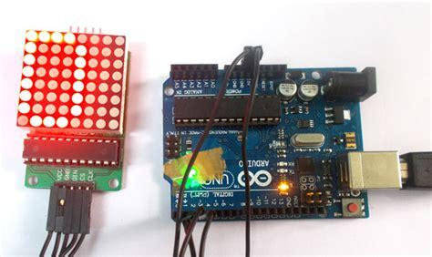 arduino  led matrix tutorial  circuit diagram code