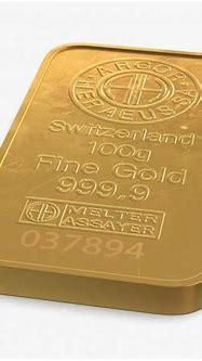 3D Gold Bar 100g model | 3D Molier International